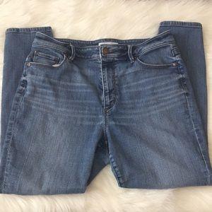 Loft curvy high waist skinny ankle jeans